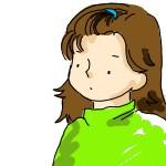 前髪が中途半端に伸びて視界の邪魔だよぅ